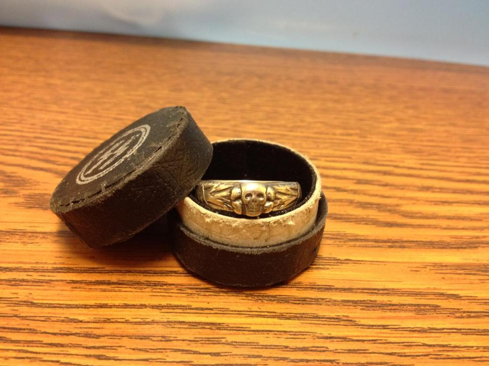 "For Sale: Original Waffen SS ""Totenkopf"" Ring (1937) + Box-18.jpg"
