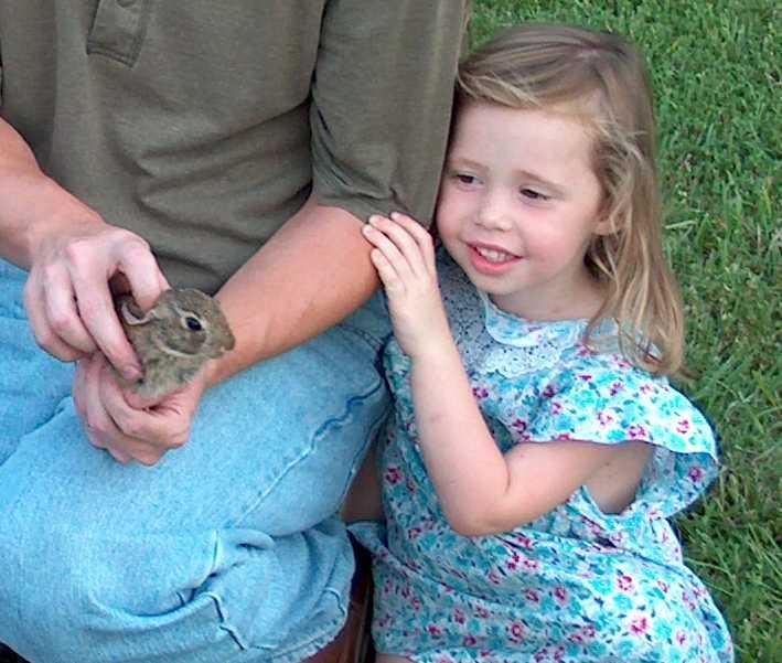Does anybody hunt rabbit?-brookeandrabbit.jpg